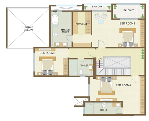 Property pistol indiabulls park at panvel for 5 bhk duplex floor plan